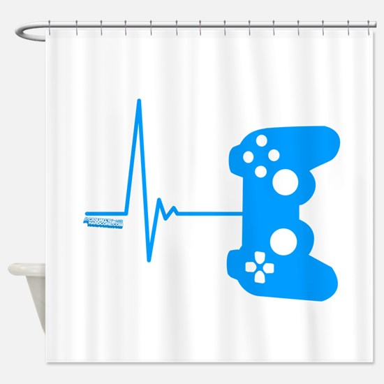 Gamer Heart Beat Shower Curtain