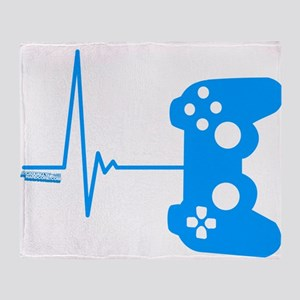 Gamer Heart Beat Throw Blanket