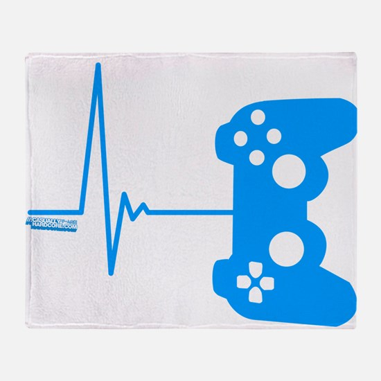 Gamer Heart Beat Throw Blanket