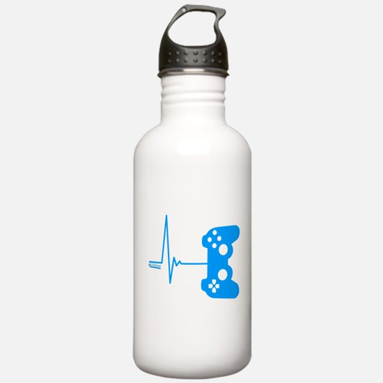 Gamer Heart Beat Sports Water Bottle