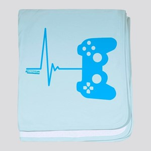 Gamer Heart Beat baby blanket