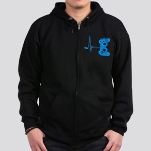 Gamer Heart Beat Zip Hoody