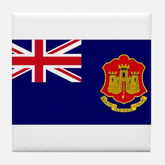 Gibraltar gov ensign Tile Coaster