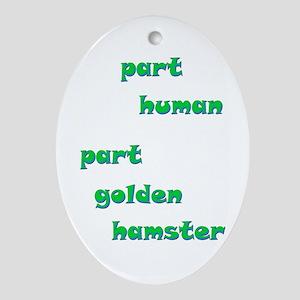 Golden Hamster Oval Ornament