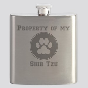 Property Of My Shih Tzu Flask