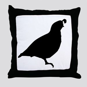 Quail Silhouette Throw Pillow