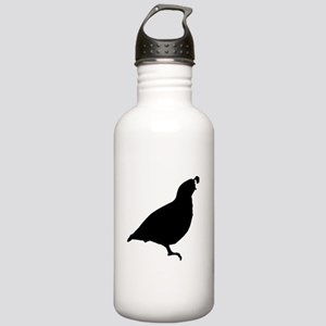 Quail Silhouette Water Bottle