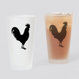 Rooster Silhouette Drinking Glass