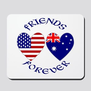 Australia USA Friends Mousepad