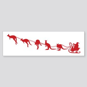 Kangaroo Santa Bumper Sticker