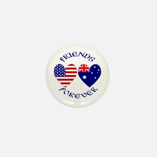 Australia USA Friends Mini Button