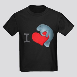 I heart manatees Kids Dark T-Shirt