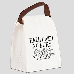 Hell Hath No Fury Canvas Lunch Bag