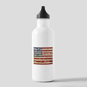 Samuel Addams on guns Water Bottle