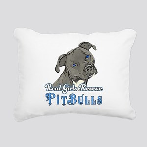 Real Girls Rescue Pitbulls Rectangular Canvas Pill