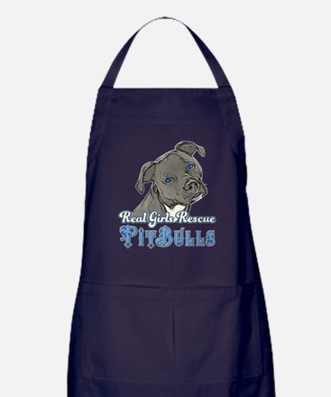 Real Girls Rescue Pitbulls Apron (dark)