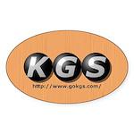 Oval KGS Logo Sticker