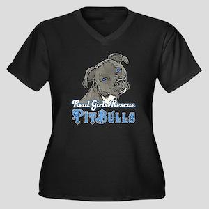 Real Girls Rescue Pitbulls Plus Size T-Shirt