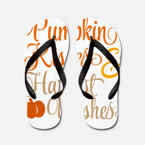 PUMPKIN KISSES Flip Flops