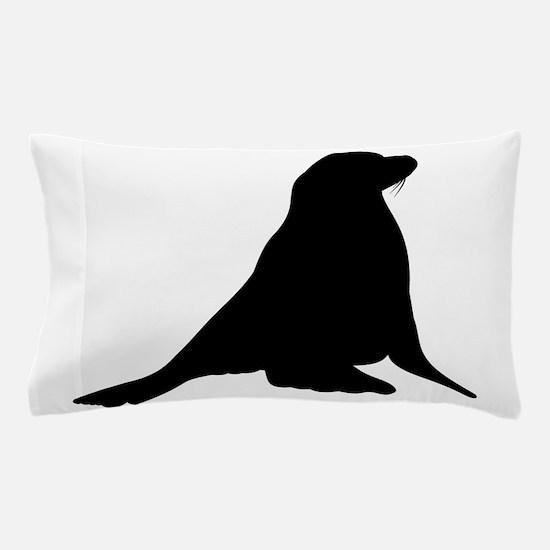 Sea Lion Silhouette Pillow Case