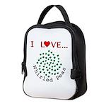 I Love Whirled Peas Neoprene Lunch Bag