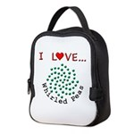 I Love Whirled Peas Neoprene Lunch Bag