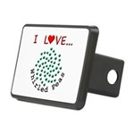 I Love Whirled Peas Rectangular Hitch Cover