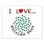 I Love Whirled Peas Small Poster