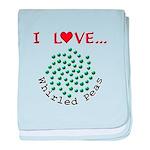 I Love Whirled Peas baby blanket