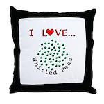 I Love Whirled Peas Throw Pillow