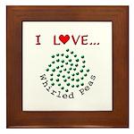 I Love Whirled Peas Framed Tile