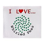 I Love Whirled Peas Throw Blanket