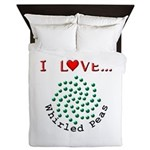 I Love Whirled Peas Queen Duvet