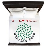 I Love Whirled Peas King Duvet