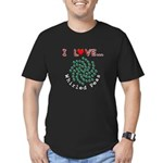 I Love Whirled Peas Men's Fitted T-Shirt (dark)
