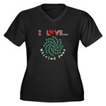 I Love Whirled Peas Women's Plus Size V-Neck Dark