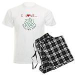 I Love Whirled Peas Men's Light Pajamas