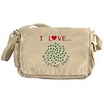 I Love Whirled Peas Messenger Bag