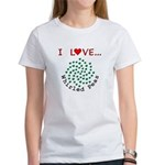 I Love Whirled Peas Women's T-Shirt