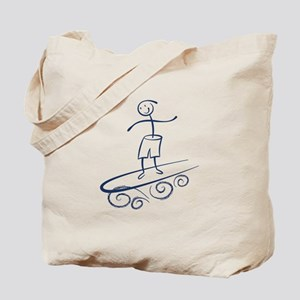Stick Surfer Tote Bag