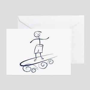 Stick Surfer Greeting Card