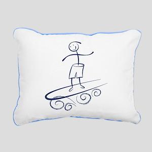 Stick Surfer Rectangular Canvas Pillow