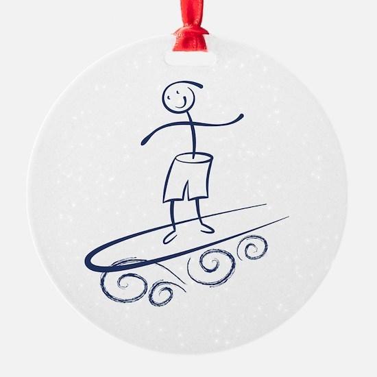 Stick Surfer Ornament