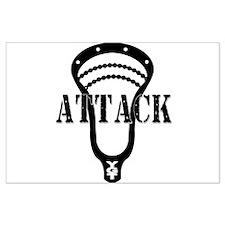 Lacrosse Attack Head Black Posters