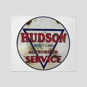 Hudson Service Sign Throw Blanket