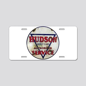 Hudson Service Sign Aluminum License Plate