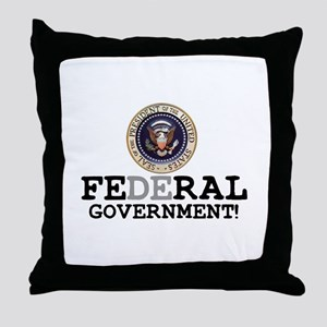 FERAL GOVERNMENT Throw Pillow