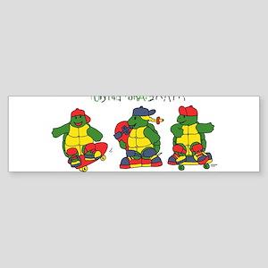 cool turtles ninja Bumper Sticker