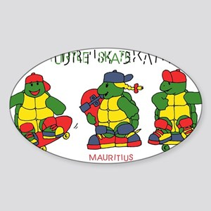 cool turtles ninja Oval Sticker