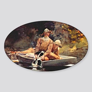 Winslow Homer - After the Hunt Sticker (Oval)